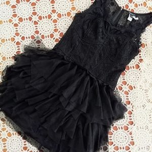 Nikibiki Lace & Mesh lil' Black Dress Size Small